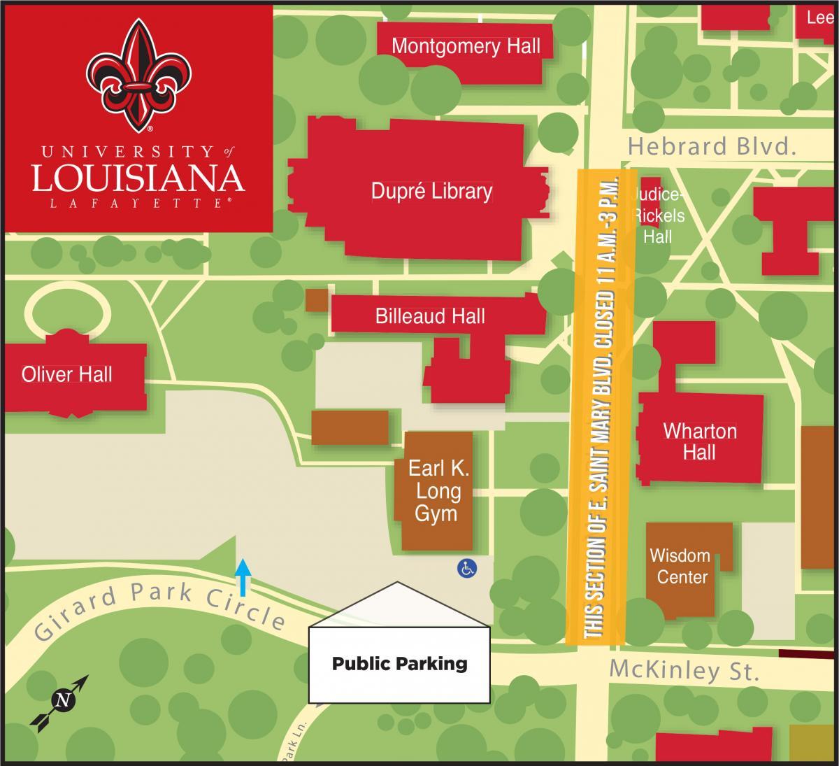 map of university of louisiana at lafayette University Of Louisiana At Lafayette map of university of louisiana at lafayette