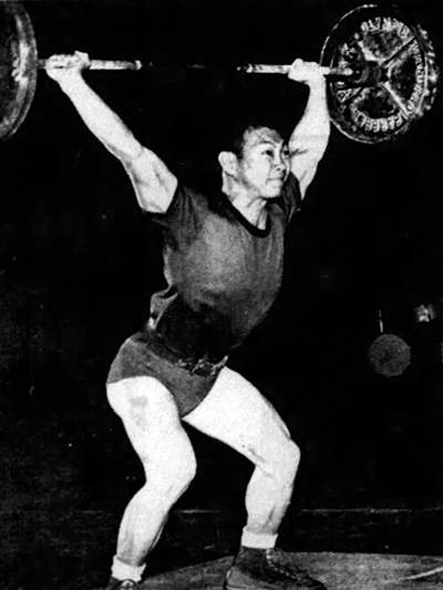 Walter Imahara was a member of the first championship weightlifting squad in 1957. Photo from the UL Lafayette Office of Communications and Marketing archival files.