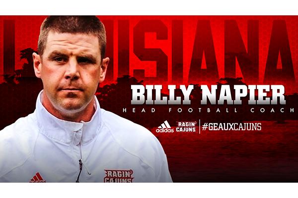 Louisiana Ragin Cajuns Announce Billy Napier As Head Football Coach