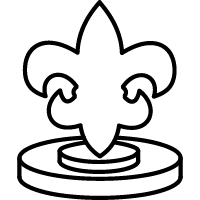 Icon of the fleur de lis fountain in UL Lafayette's quad