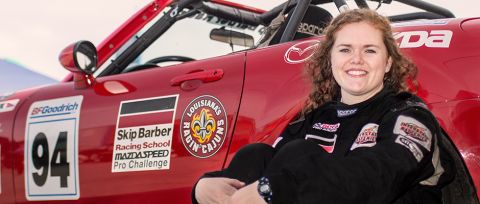Marketing student tears up the track university of for Texas motor speedway college station