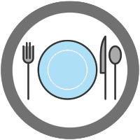 icon of a plate with silverware