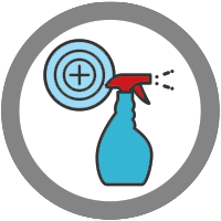 icon of disinfectant spray bottle