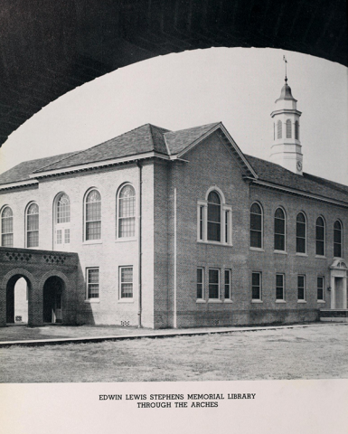 Photograph of Stephens Hall from 1941 yearbook