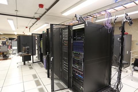 Photo of UL Lafayette Information Technology's server room